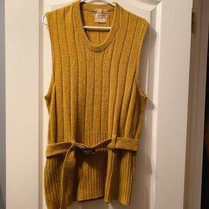 Dresses & Skirts - Vintage mustard yellow sweater vest dress